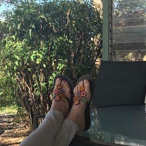 Beautiful hand-beaded sandals